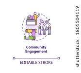 community engagement concept... | Shutterstock .eps vector #1805504119