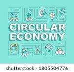 circular economy word concepts...