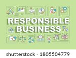 responsible business word...