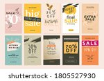 set of mobile sale banners.... | Shutterstock .eps vector #1805527930