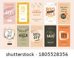 social media sale banners and... | Shutterstock .eps vector #1805528356