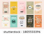 social media sale banners and... | Shutterstock .eps vector #1805533396