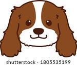 outlined brown cavalier king... | Shutterstock .eps vector #1805535199