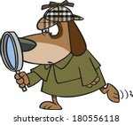 cartoon dressed as a detective | Shutterstock .eps vector #180556118