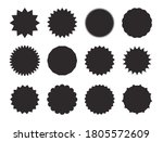 starburst stickers. black on... | Shutterstock .eps vector #1805572609