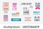 joystick quotes. retro gamepad... | Shutterstock .eps vector #1805586859