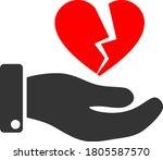 break heart offer flat vector...   Shutterstock .eps vector #1805587570