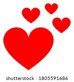 love hearts v3 raster... | Shutterstock . vector #1805591686