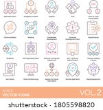 agile icons including motivated ... | Shutterstock .eps vector #1805598820