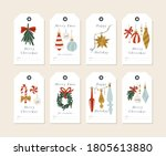 vector linear design christmas... | Shutterstock .eps vector #1805613880