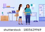 patient consulting with a... | Shutterstock .eps vector #1805629969