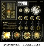 futuristic vector hud interface ...
