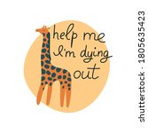 help me i'm dying out hand... | Shutterstock . vector #1805635423