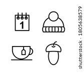 Vector Autumn Icons  Calendar ...