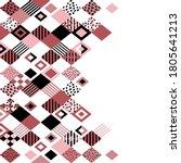 rhombus background. vector... | Shutterstock .eps vector #1805641213