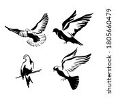 a set of doves flies with... | Shutterstock .eps vector #1805660479