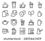 simple set of coffee related... | Shutterstock .eps vector #1805661409
