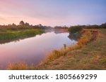 River Misty Autumn Sunrise....