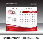 january desk calendar 2021... | Shutterstock .eps vector #1805670259