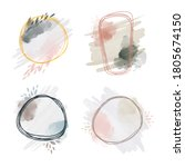 watercolor abstract art... | Shutterstock .eps vector #1805674150