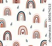 bohemian  modern boho chic... | Shutterstock .eps vector #1805674213