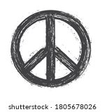 peace symbol in grunge style...   Shutterstock .eps vector #1805678026