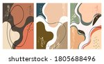 set of abstract square... | Shutterstock .eps vector #1805688496