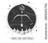 modern magic witchcraft card... | Shutterstock .eps vector #1805692750