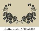 rose border vector ornamental... | Shutterstock .eps vector #180569300