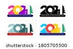 2021 happy new year elegant... | Shutterstock .eps vector #1805705500