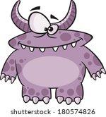 cartoon purple monster | Shutterstock .eps vector #180574826
