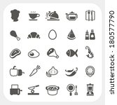 food icons set | Shutterstock .eps vector #180577790