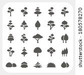 tree icons set | Shutterstock .eps vector #180578270