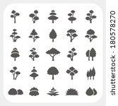 tree icons set | Shutterstock .eps vector #180578270
