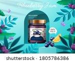 3d illustration of blueberry... | Shutterstock .eps vector #1805786386