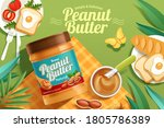 peanut butter spread product on ... | Shutterstock .eps vector #1805786389