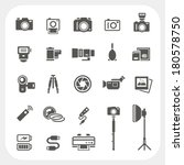 camera icons and camera... | Shutterstock .eps vector #180578750