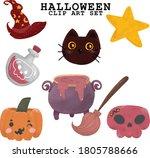 halloween element clip art...   Shutterstock .eps vector #1805788666
