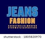 vector textile sign jeans... | Shutterstock .eps vector #1805820970