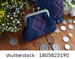 Coin Purse With Coins And...