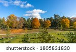 Old Forest Cemetery In Autumn...