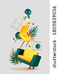 vector conceptual composition... | Shutterstock .eps vector #1805839036