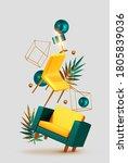 vector conceptual composition... | Shutterstock .eps vector #1805839036