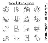 digital detoxing icons set in... | Shutterstock .eps vector #1805845093