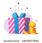 money gift as charity donation  ... | Shutterstock .eps vector #1805857840