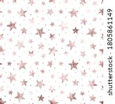 Stars. Rose Gold Foil. Pink...