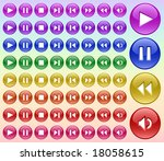 color buttons for player 2.... | Shutterstock .eps vector #18058615