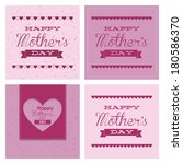 abstract mother's day text on a ... | Shutterstock .eps vector #180586370