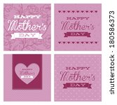 abstract mother's day text on a ... | Shutterstock .eps vector #180586373