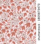 mallow flower seamless pattern... | Shutterstock .eps vector #1805873473